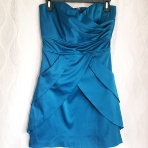 Turquoise Sweetheart Strapless Tie Back Min